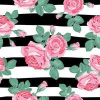 Retro bloemen naadloos patroon. vector