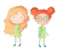 Leuke cartoonmeisjes