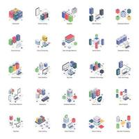 Database server isometrische illustraties vector