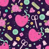 Naadloos patroon van naaiende accessoires.