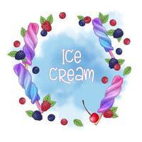 Ontwerp met ijslolly en notenchocolade vector