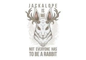 Jackalope hoofd afbeelding vector