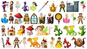 Set van middeleeuws karakter