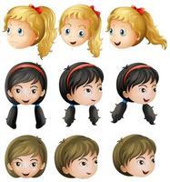 Jong meisje gezichten