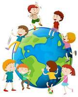 Veel kinderen zijn over de hele wereld