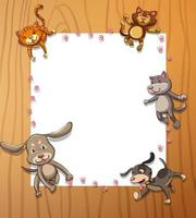 Frame sjabloon met dieren