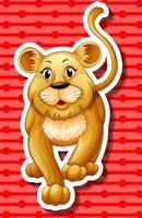 Kleine leeuwenwelp lopen vector