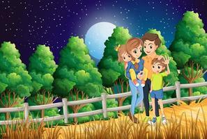Een familie in het bos vector