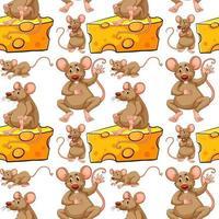 Naadloze muis en kaasplak