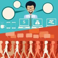 Mensen en zakelijke stijl infographic