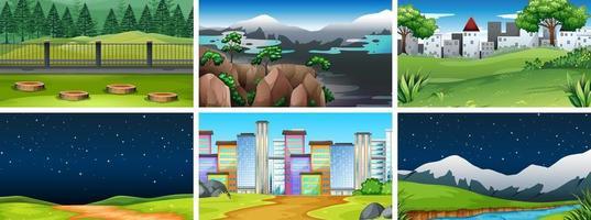 Set van verschillende achtergronden vector