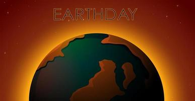 Een aardedagpictogram vector