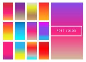 Set van zachte kleurrijke verlopen achtergrond vector