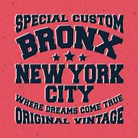 Bronx vintage stempel vector