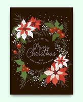 Merry Christmas wenskaart patroon