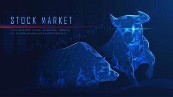 Bullish versus bearish economieconcept vector