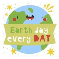 Aarde dag iedere dag vector