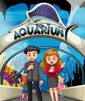 Verslaggevers doen verhaal in het aquarium
