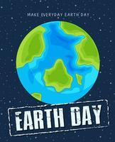 Een dagsjabloon voor de aarde vector
