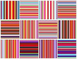 Set van kleur lijnen naadloze patroon vector