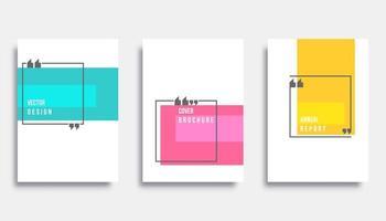 Abstracte voorbladsjabloon ontwerpset. Vector illustratie