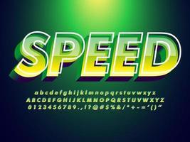 Groen lettertype met trendy ontwerpstijl