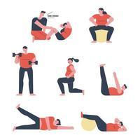 Mensen die trainen met gewichten.
