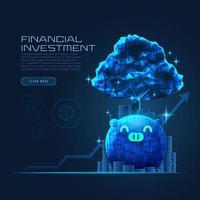Concept art van financiële groei vector
