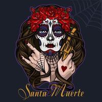 Santa Muerte Dia de muertos Halloween