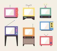 Oude design televisies.