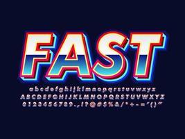 Blauw Retro 80s lettertype