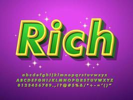 Fancy Green Lettertype Met Paarse Achtergrond