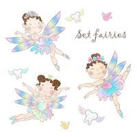 Set van schattige feeën