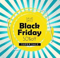 Black Friday mooie flyer vector