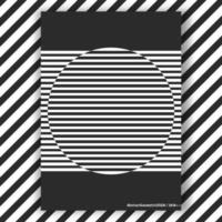 Zwart en wit interieur posterronde
