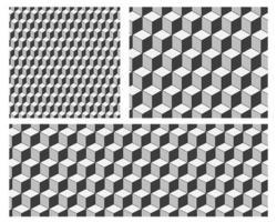 Naadloze patroonachtergrond met kubussen. Minimal behang vectorontwerp