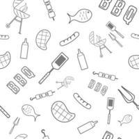 BBQ Grill naadloos patroon. vector