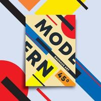 Achtergrond met moderne kunst design voor poster vector