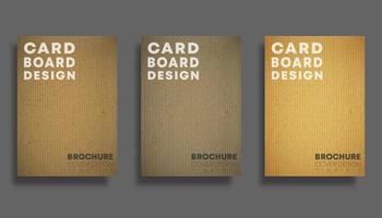 Set achtergronden met kartonnen structuurpatroon. Ontwerp voor flyer, poster, brochure cover, typografie of andere drukproducten