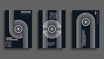 Set van minimale ontwerpachtergrond voor banner, flyer, poster, brochure cover of andere drukproducten