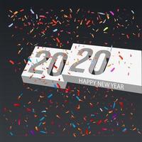 2020 gelukkig nieuwjaar 3D vector