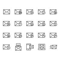 E-mail icon set vector