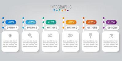 Zakelijke infographic labelsjabloon met optie