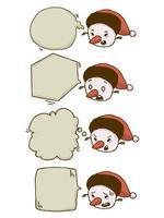 Kerst sneeuwpop praatjebel set
