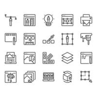 Grafisch ontwerp icon set