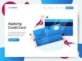 Landingspagina sjabloon van creditcard vector