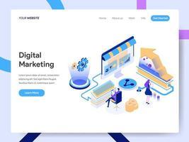 Landingspagina sjabloon van Digital Marketing Consultant vector