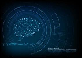 Creatief technologieconcept het menselijke brein vector