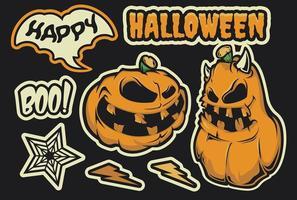 Halloween stickerpakket vector