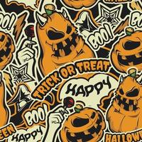 Halloween naadloos patroon vector